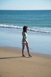 walking barefoot at the beach poster