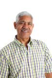 Senior Minority Man Set On A White Background