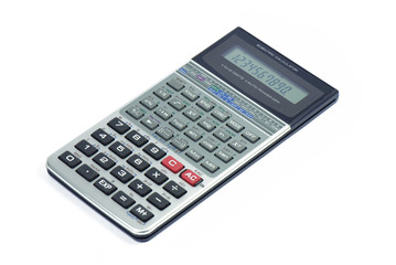 Calculator isolated on white, Business accessories