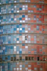 Fensterputzer am Hochhaus