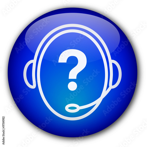 """Helpdesk Operator"" Button (with question mark) by Pro Web ..."