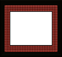 Traditional Plaid Frame - with isolated clipping path