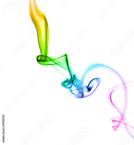 Astract colored smoke