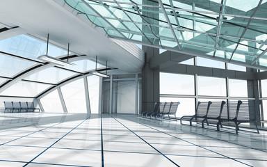 Architecture concept 3d render