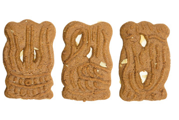 speculaas ( a typical dutch cookie) isolated