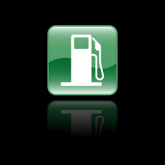 Glossy Fuel Station Icon