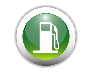 Glossy Fuel Station Icon Button