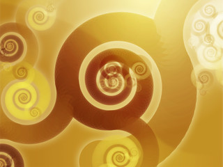 Abstract wallpaper background with swirly grungy spirals