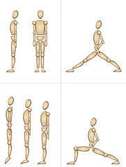 human doing exercises