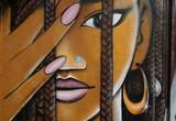 visage,afrique,coiffure,resse,tresses,africaine,métisse poster