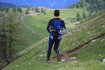 Course en montagne