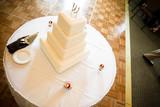 white wedding cake dessert smooth elegant poster