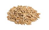fine image of alternative biological energy, wood pellet poster
