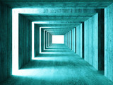 fine image of 3d concretet tunnel abstract background - 9803153