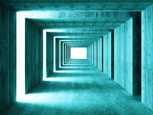 fine image of 3d concretet tunnel abstract background