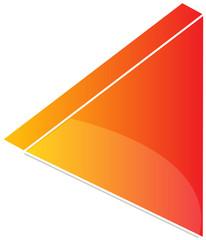 Rewind Audio icon illustration, triangle with line