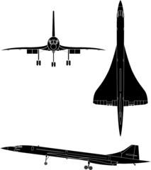 vector silhouettes of concorde