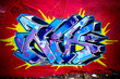 Graffiti Wall - urban scene