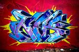 Fototapety Graffiti Wall - urban scene