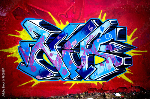 fototapete graffiti wall urban scene. Black Bedroom Furniture Sets. Home Design Ideas