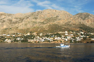 View on Massouri, Kalymnos from Island Telendos