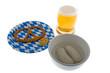 Oktoberfest mit Bier, Brezel und Weisswurst