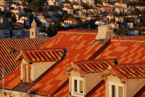 Terracotta Roof tops in Old Town of Dubrovnik, Croatia