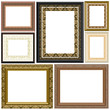 Gilted Fabics Frame Collection - with isolated clipping path
