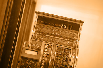 Antique Cash Register in Sepia