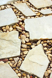 Cobblestone pathway, in close-up. poster