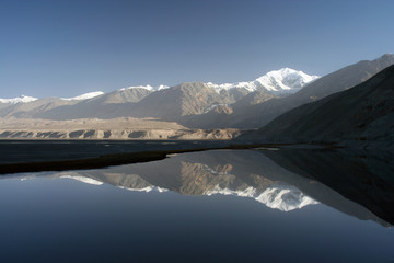 the pamir reflected on water