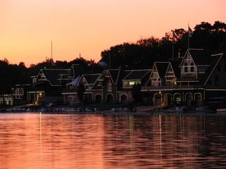 Boathouse Row Sunset