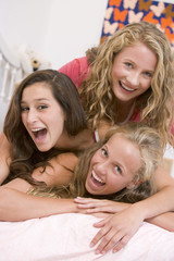 Teenage Girls Having Fun