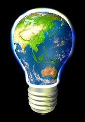 The Earth - green eco energy - Asia and Australia