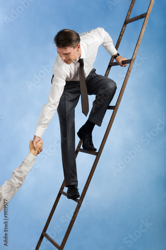 Conceptual image of successful businessman