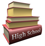 Education books - High School poster