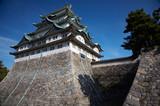Summer view of Nagoya Castle under blue sky. Japan poster