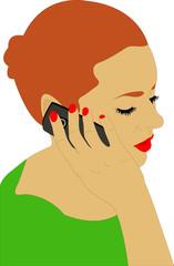 women speaking on the phone