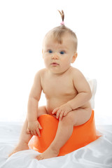 Beautiful baby. Shot in studio.