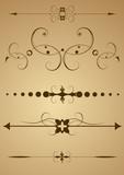 Editable vector design elements poster