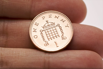 Shiny One Penny Coin