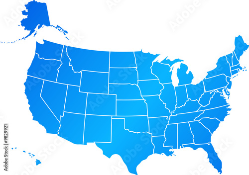 map of United States of America USA