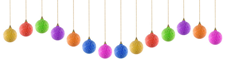colored christmas balls