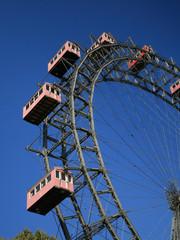 Giant old ferris wheel in Wien, Austria