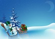 Snowy Christmas 6 - background illustration