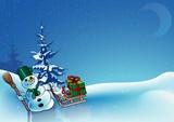 Snowy Christmas 6 - background illustration