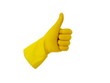 Thumb up with a yellow glove - 9835700