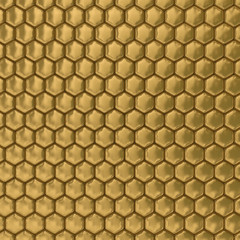 Comb honey. 3D image. Illustrations