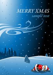 Weihnachten verschlafen-Karte