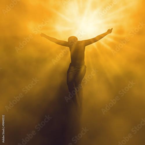 Leinwanddruck Bild Jesus christ in heaven